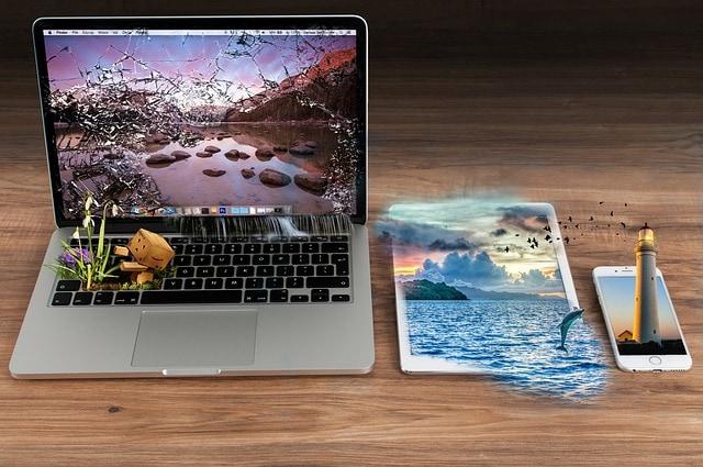 photo montage effets eau réalité augmentée
