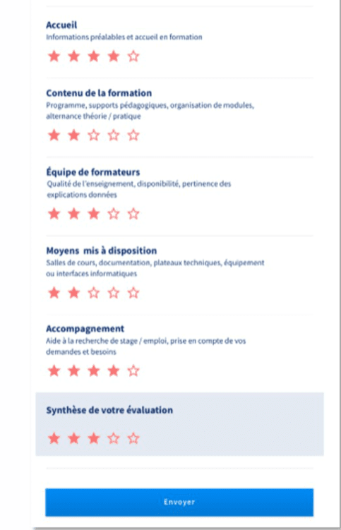 Mon Compte Formation Evaluation formation