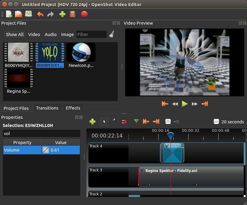 montage video openshot