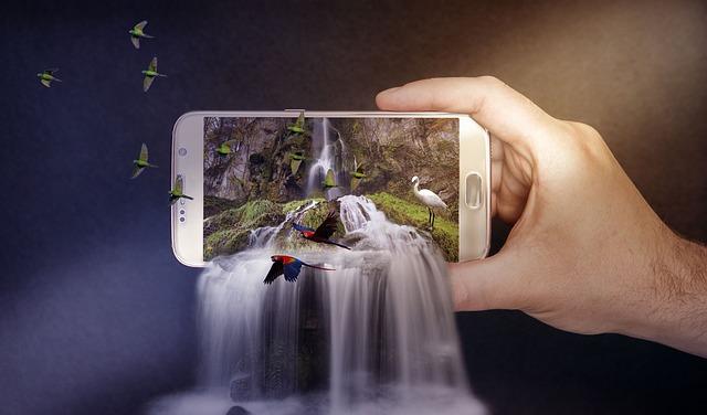 photoshop trucage chute d'eau smartphone
