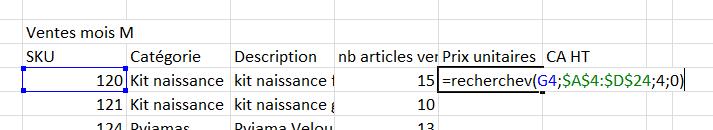 Excel recherchev valeur proche ou exacte ?